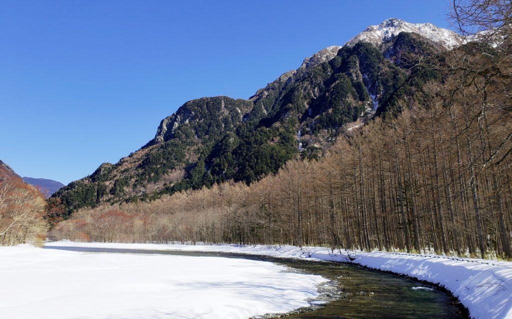 冬の上高地(長野県)